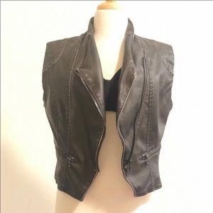 Free people  vegan leather vest